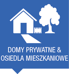 Domy prywatne i osiedla mieszkaniowe